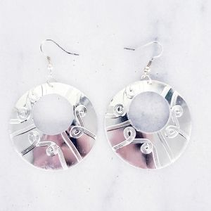 Jewelry - ❤ 4 for $25 ❤ #1254 Silver Bohemian Carved Earring